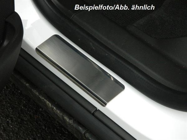 Edelstahl Einstiegsleisten - gebürstet mit Glanzrand [ VW Amarok ]