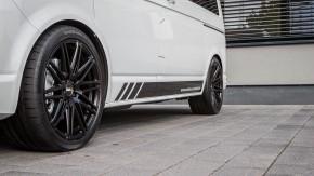 "Twin-Monotube - leicht konkav, 9x20"" [ VW T5 / T6 / T6.1 ] seidenmatt schwarz"